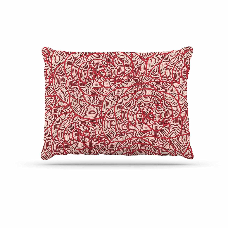 KESS InHouse Kess Original pinks Pink Red Dog Bed, 30  x 40