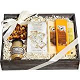 Milliard Ultimate Cheese Gift Basket with 100% Wisconsin Cheese, Crackers, Nuts and Mustard. Gourmet Food Gift Box for…