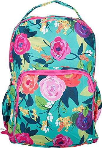 Nantucket Bloom Reinforced Denier Water Resistant Book Bag Backpack