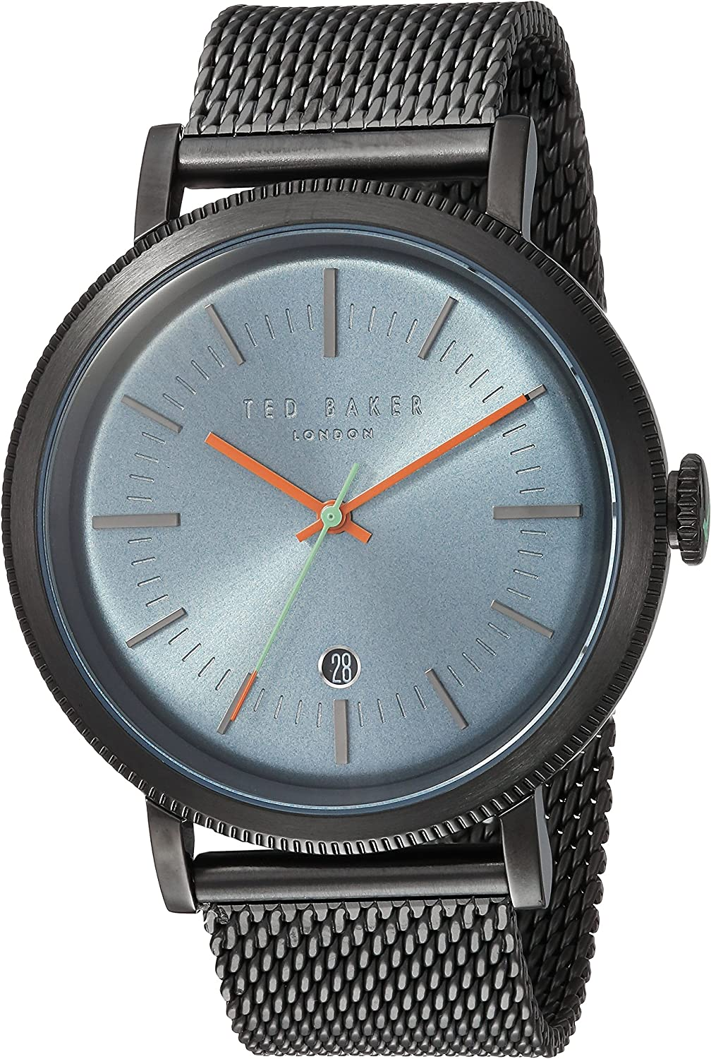 Ted Baker Men's 'Connor' Quartz Stainless Steel and Leather Casual Watch