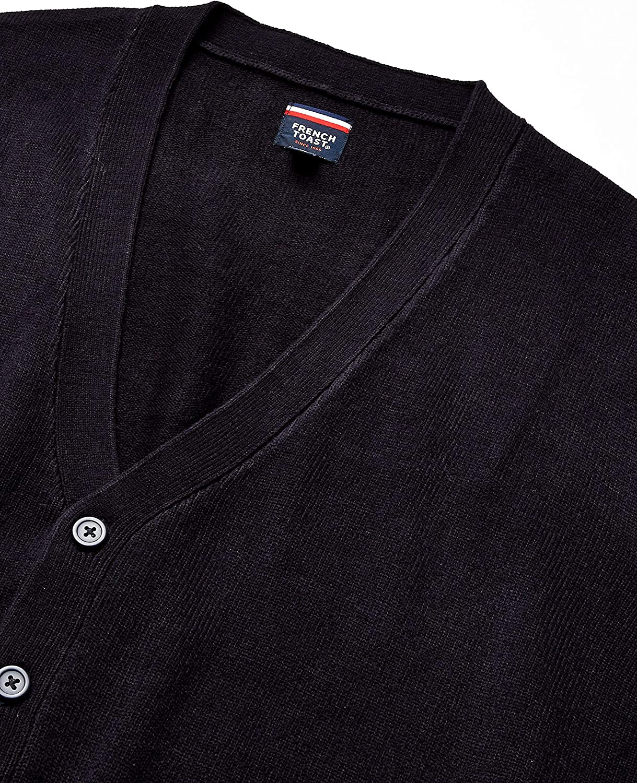 French Toast Boys Big Anti-Pill V-Neck Cardigan Sweater