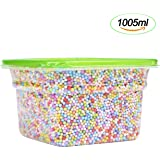 Diomate 2-4mm Styrofoam Balls Beads for Slime or Decorative DIY Crafts (Mixed Colors, 1005ml)