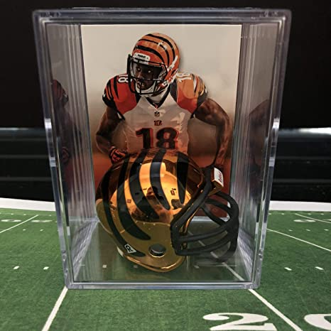newest bc310 bd86d Amazon.com: Chrome Edition Cincinnati Bengals NFL Helmet ...