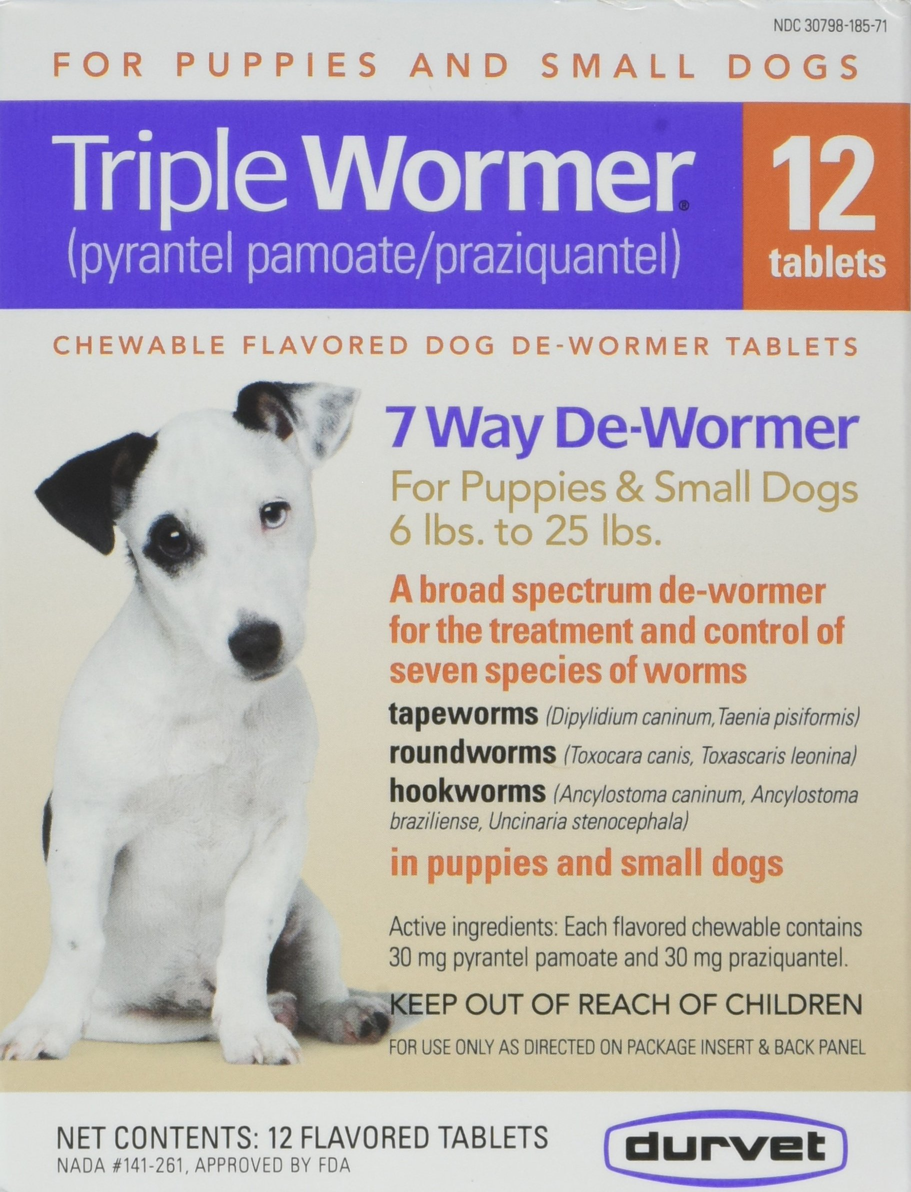 DURVET 12-Pack Triple Wormer Tablets for Puppies and Small Dogs by Durvet