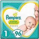 Pampers New Baby pannolini, taglia 1, da 2a 5kg, confezione da 96