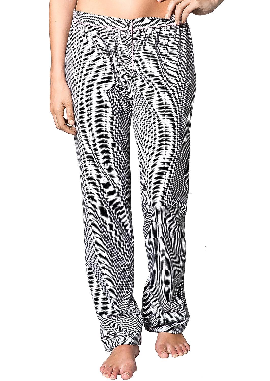 Joop! Damen Pyjama-Hose Sylvia Baum Wolle Schlafanzug-Hose Gemustert, Größe: XL, Farbe: Schwarz Größe: XL
