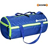 Kore TERMINATOR-9.1 Gym Bag with One Shoe Compartment, One side Pockets, One side ventilated Mesh and Carry Handels (Royal Blue/ Neon Green)