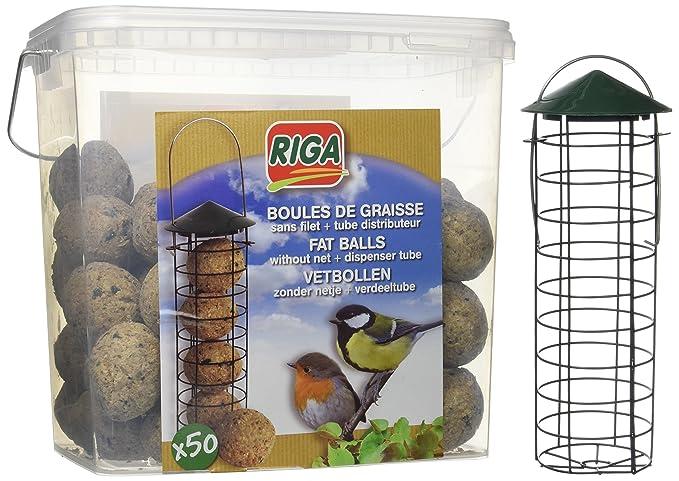Riga 50 Boules de Graisse sans Filet + Distributeur Tube Seau DE 4,5 Kg   Amazon.fr  Animalerie 4b07115b9186