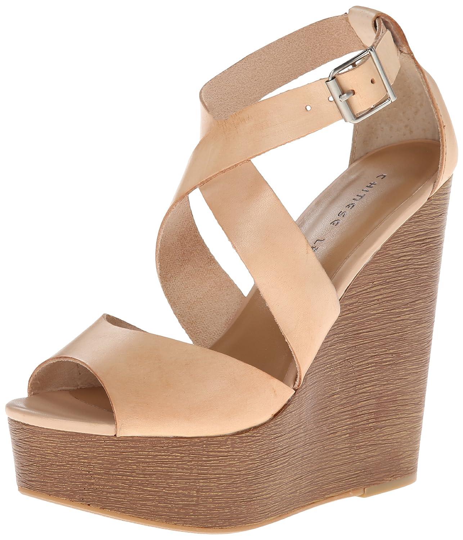 Chinese Laundry Women's Java Leather Wedge Sandal B00J9YQFTS 9 B(M) US Hazelnut