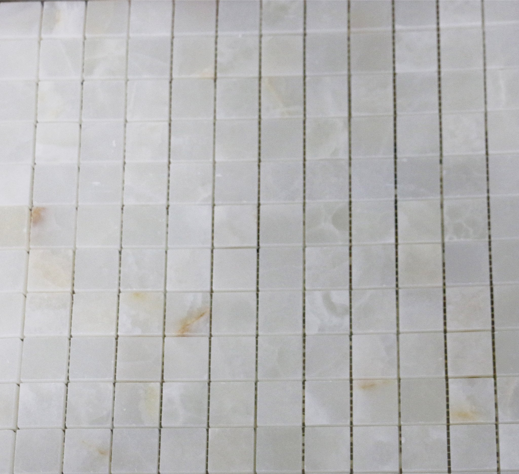 Waterworks Keystone Stacked Mosaic in White