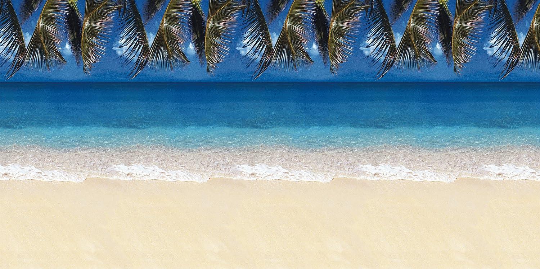 "Fadeless Bulletin Board Art Paper, Tropical Beach, 48"" x 12', 1 Roll"