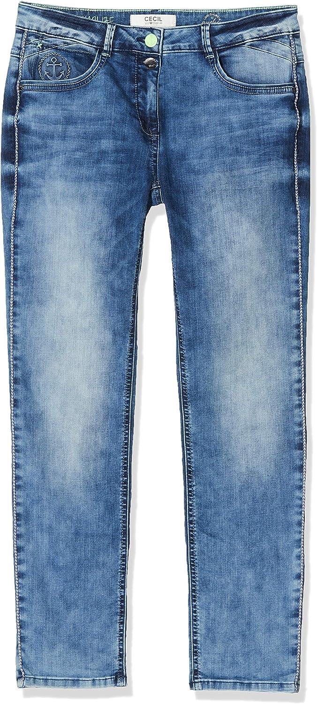 Cecil Damen Charlize Jeans Blau (Mid Blue Wash)