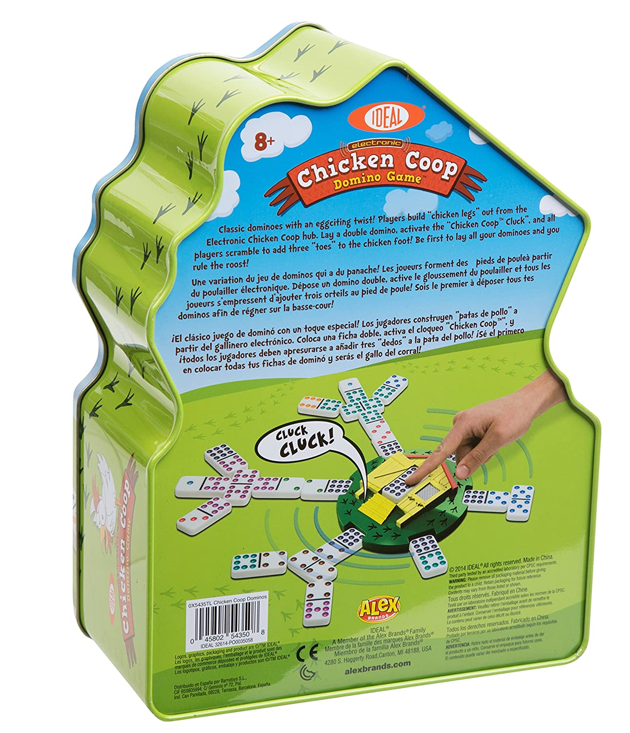 Amazon.com: Ideal electronic Chicken Coop Domino Game: Toys ...