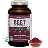 Pure Synergy Organics Beet Juice Powder with Naturally Occuring Nitrates 6.35oz by The Synergy Company