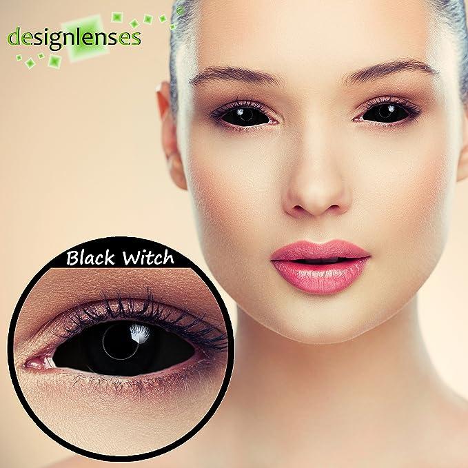 c5b5247f106ea Sclera lentillas de color negro para Halloween 22mm Zombie lentillas de  seis meses sin dioprtías   corregir + gratis caso de lente