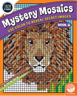 color by number mystery mosaics book 8 - Mosaic Coloring Book