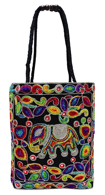 0fa0a2d97a Amazon.com  Peegli Women Suzani Embroidered Shoulder Bags Indian Traditional  Tote Handbags  Shoes