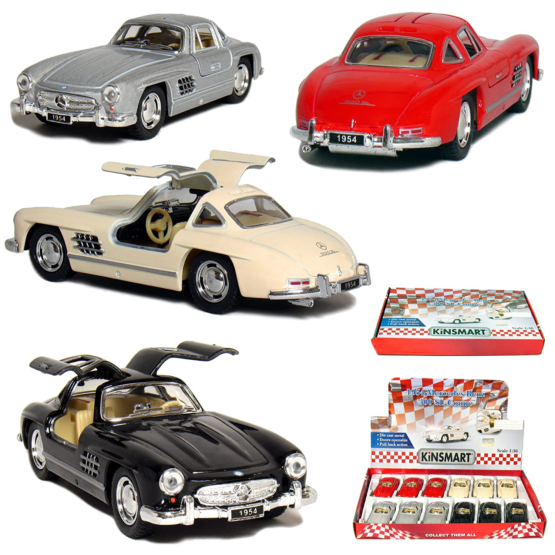 12 pcs in Box: 13cm 1954 Mercedes-Benz 300 SL Coupe 1:36 Scale (Beige/Black/Red/Silver)   B004S83E2Q