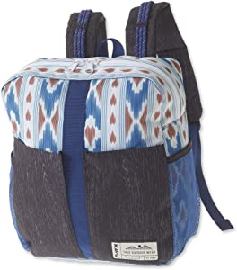 KAVU Onamission Backpack with Padded Laptop, Tablet Sleeves - River Ikat