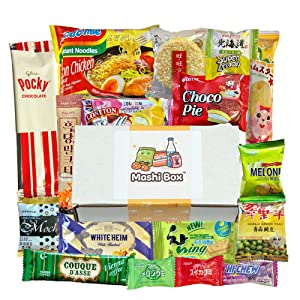 Mashi Box Asian Mystery Mini Snack Box - 18 Items - Includes 1 Full Sized Item with Asian Snack Variety from Japan, Korea, China, Vietnam, Indonesia, etc