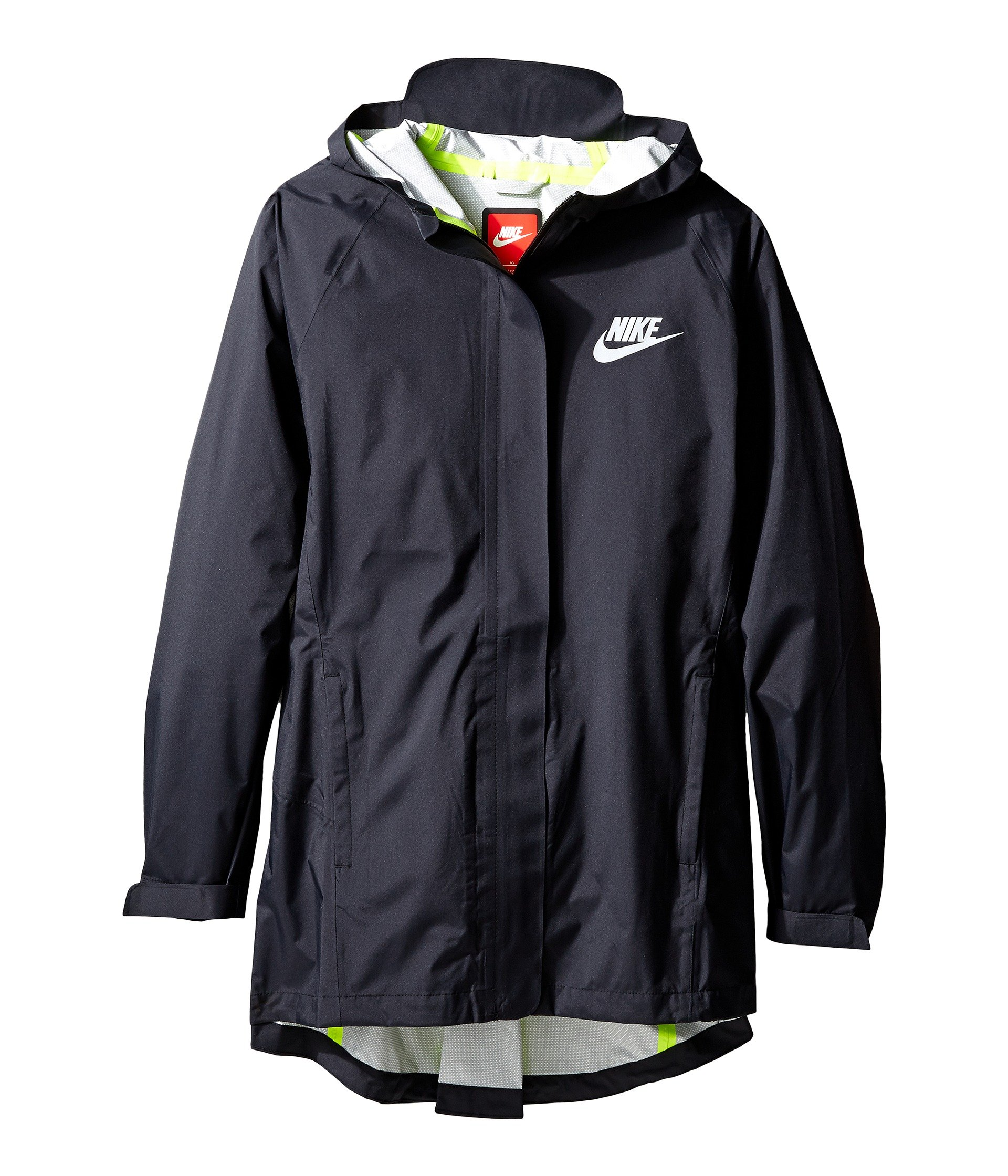 Nike Sportswear Big Kids' (Girls') Jacket (L, Black/Black/Volt) by NIKE