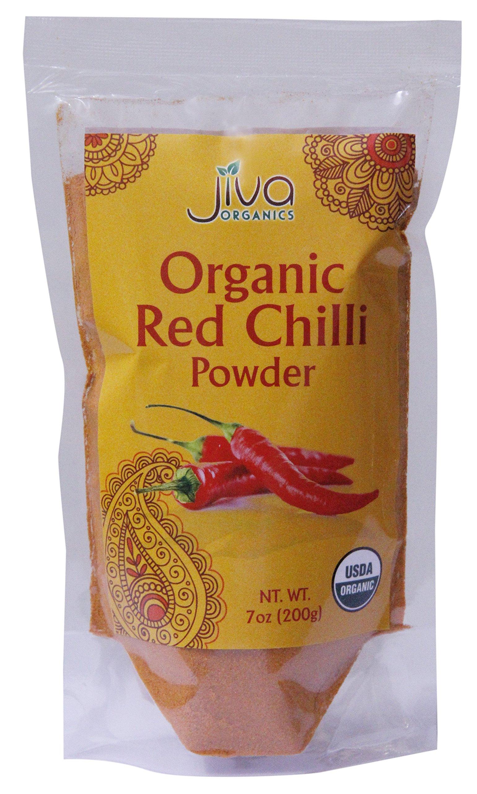 Jiva USDA Organic Red Chilli Powder Indian 7 Ounce Bag