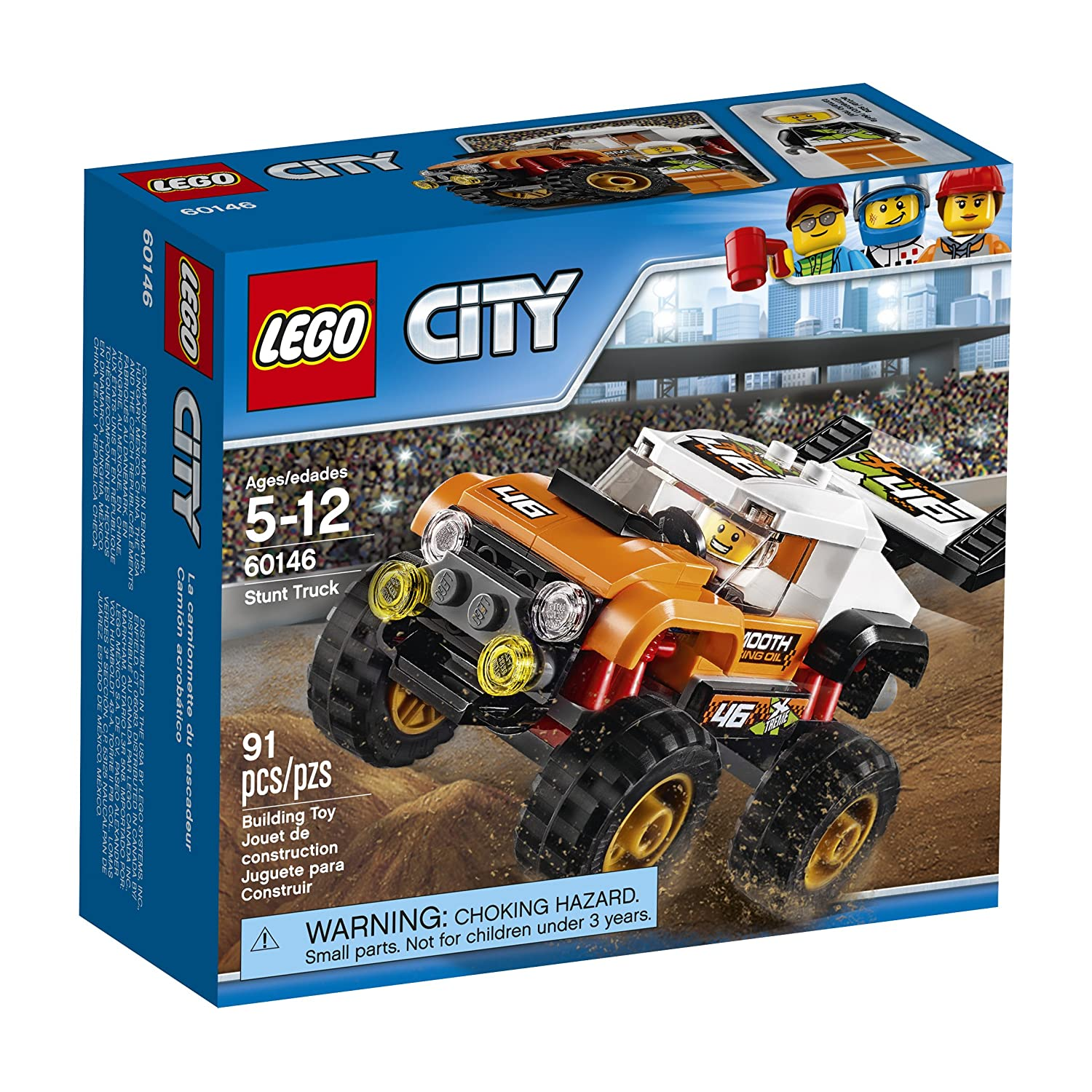 image of Lego city stunt truck set in a box for boys