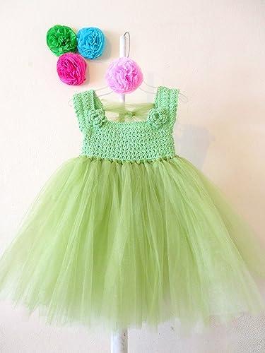Vestido De Crochet Con Tul Para Niña Talla 3 Años Amazon