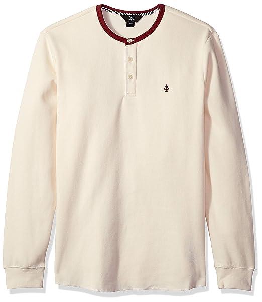 dfe2d45a Volcom Mens Layer Stone Henley Crew Neck Long Sleeve Shirt Henley Shirt:  Amazon.ca: Clothing & Accessories