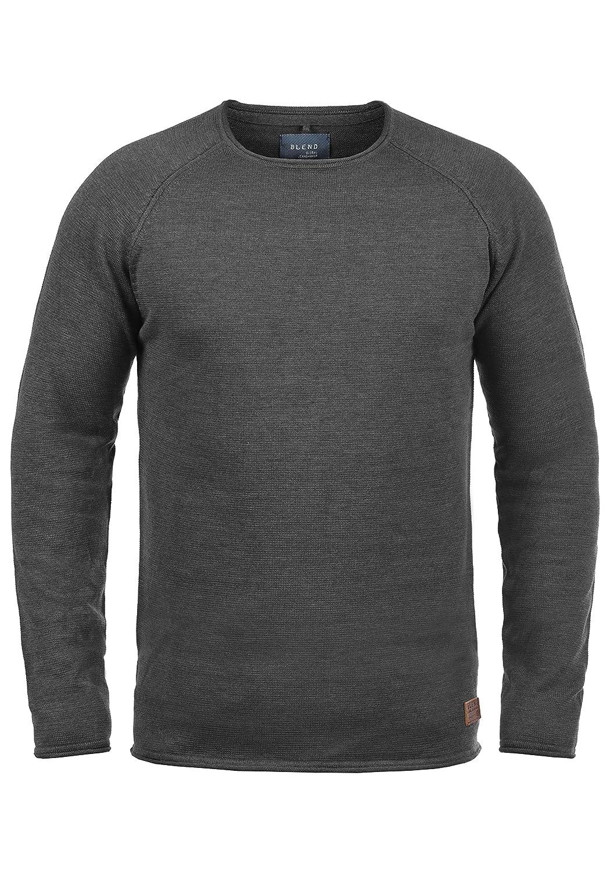 TALLA L. Blend John Jersey De Punto Suéter para Hombre con Cuello Redondo De 100% algodón