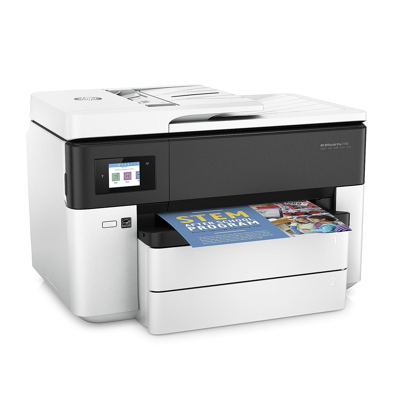 HP Officejet Pro 7730 – Impresora multifunción de formato ancho (impresión A3 y A4, pantalla táctil en color, memoria 512 MB, AAD de 35 hojas, doble ...