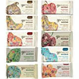 "GoMacro Bars / Go Macro Organic Nutrition Bars Variety, 1.9 oz- 2.5 oz (Pack of 20 / 2 Each of 10 Flavors ) with Snack Castle 9"" x 8"" Reusable Snack Pouch with Locking Knob Bundle"