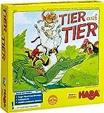Haba 4478 Tier auf Tier - Juego infantil para apilar animales (en alemán)