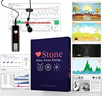 Amazon Com Biofeedback Stone Pro For Hrv Training Software And Games Relaxation Meditation Breathing Techniques For Anxiety And Stress Video Games