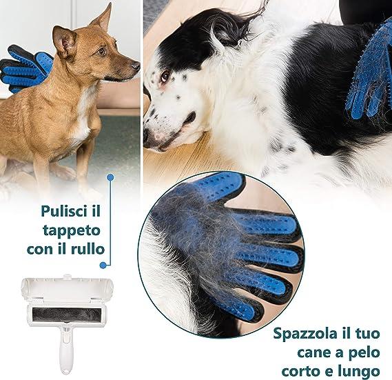 Liar Guanti da Bagno per la Pulizia dei peli di Animali Domestici con Testa in Silicone Morbido di Alta qualit/à 1
