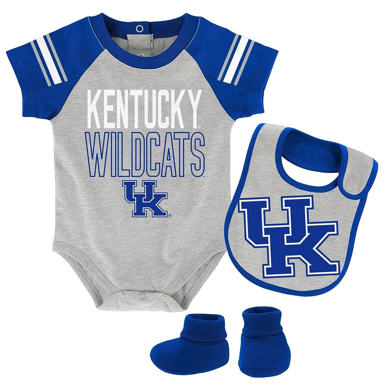 Bib /& Booties NCAA by Outerstuff NCAA Kentucky Wildcats Newborn /& Infant Blitz Bodysuit Heather Grey 3-6 Months