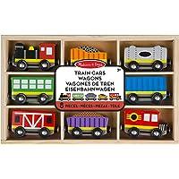 Melissa & Doug Set de Juguete Vagones de Tren de Madera - 8 piezas