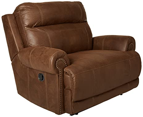 Ashley Furniture Signature Design Austere Manual Oversized Recliner - Brown  sc 1 st  Amazon.com : over sized recliner - islam-shia.org
