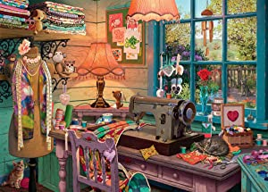 Ravensburger The Sewing Shed 1000 Piece Jigsaw Puzzle for Adults – Every Piece is Unique, Softclick Technology Means Pieces Fit Together Perfectly