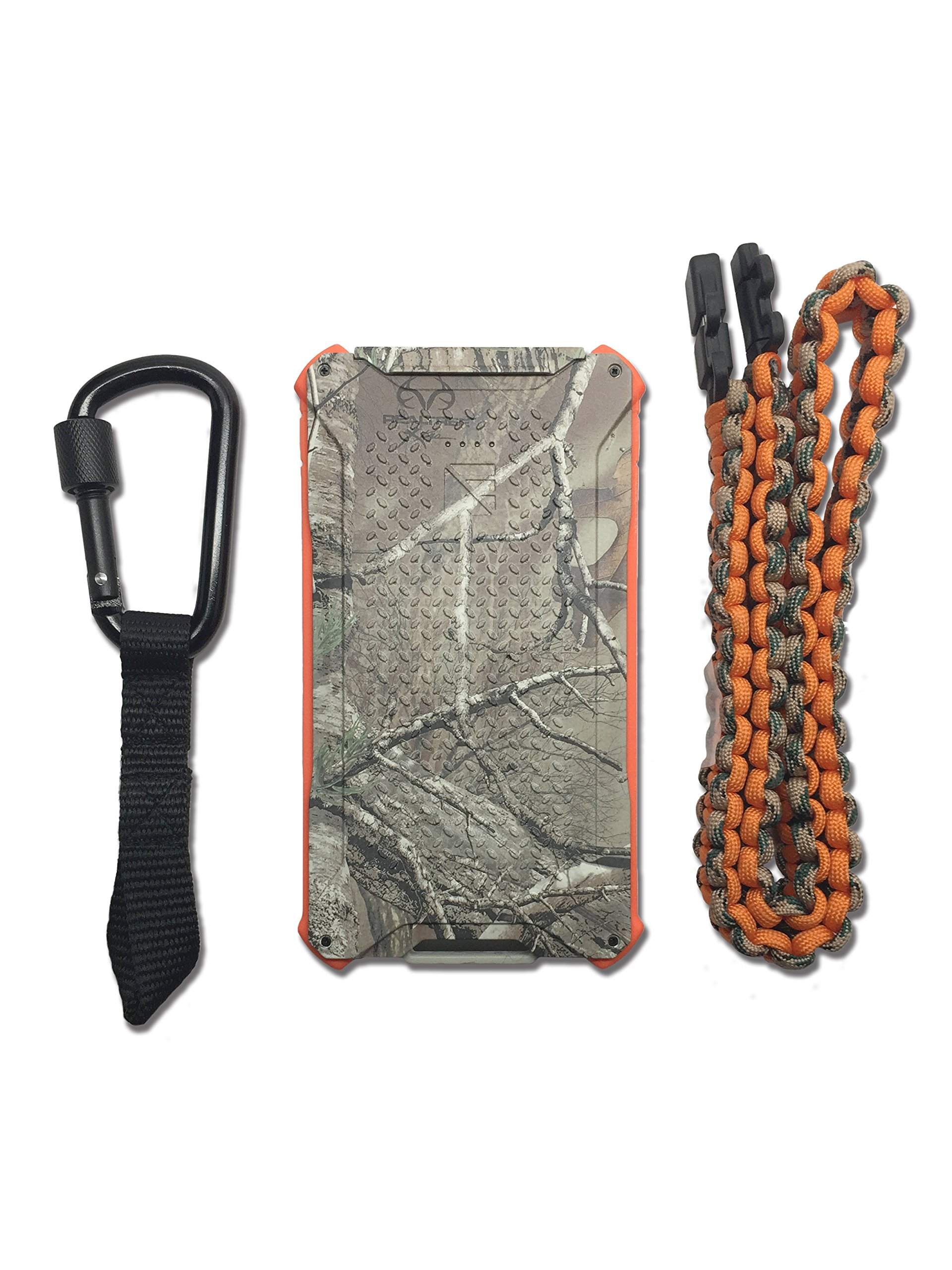 Dark Energy Poseidon IP68 Waterproof, Shockproof, Dustproof, 10,000mah, 2 USB Port, 3.4 Amp Portable Charger and Light PLUS Paracord Charging Cable, Realtree by Dark Energy (Image #8)
