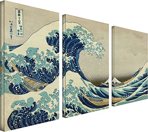 Art Wall 3-Piece The Great Wave Off Kanagawa