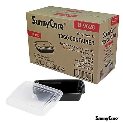Amazon.com: sunnycare # b9628 Negro 28 oz rectangular ...