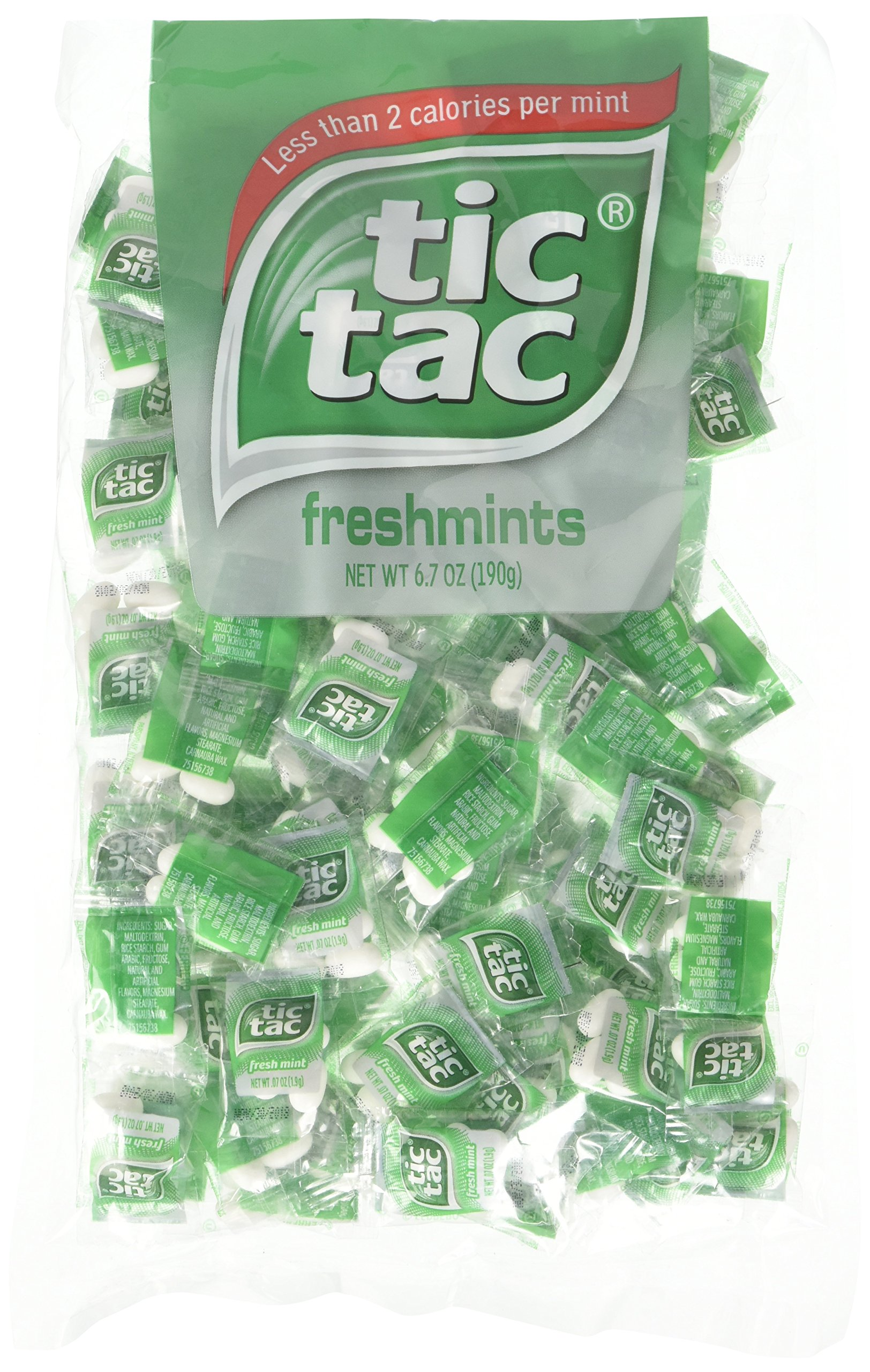 tic tac Freshmint Pillow Pack, 100Count bag (Pack 2) 200 individually wrapped Pack of 4 mints each by Tic Tac