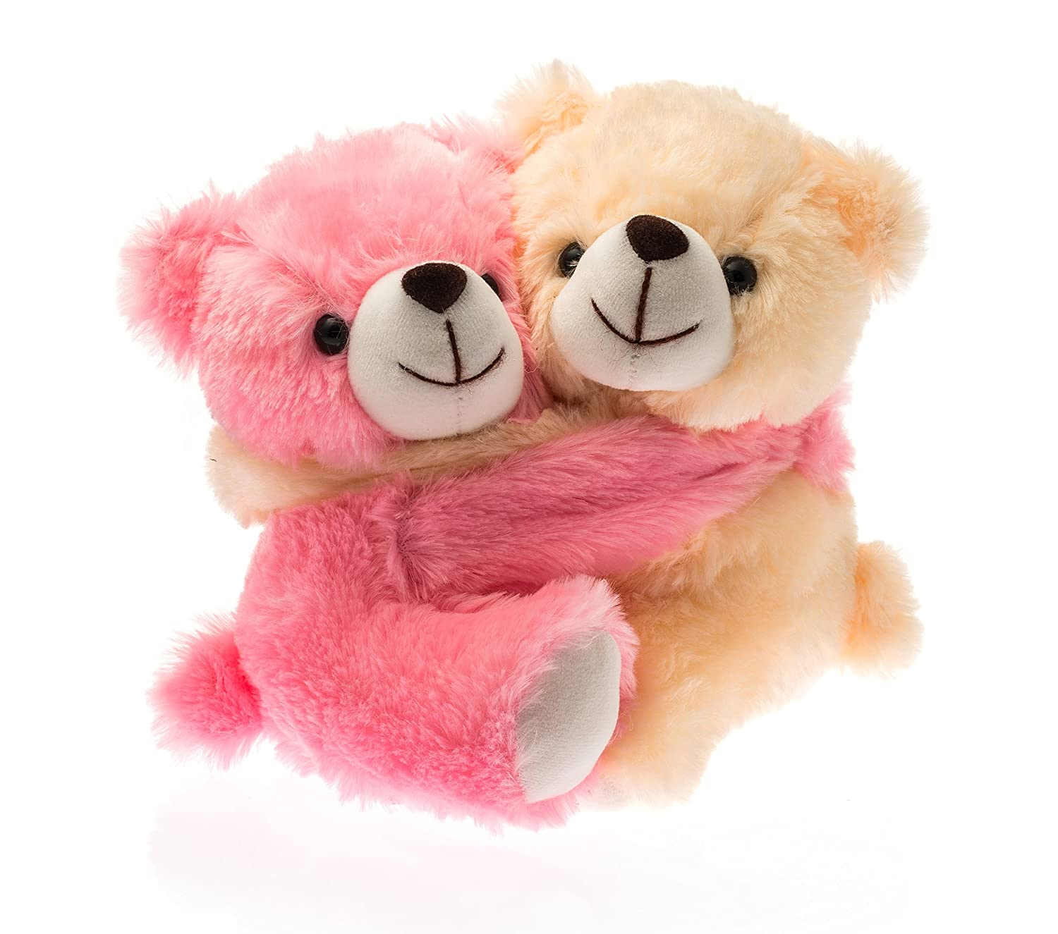 1621f15f60a2 Buy Dimpy Stuff Cute Pink and Cream Bear Couple Soft Toy