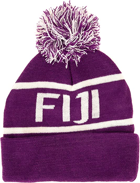 c4b254f0a2a6b Phi Gamma Delta Letter Winter Beanie Hat Greek Cold Weather Winter Fiji at  Amazon Women s Clothing store