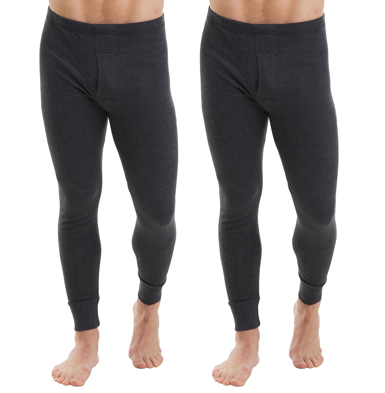 2COZEE® 2er-Pack Männer/Herren Thermounterwäsche Lange Unterhosen/Hosen Interlock 8 X 1 Verschiedene Farben & Größen
