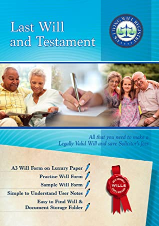 Deluxe A Last Will And Testament Forms Kit  Pack With Spacious