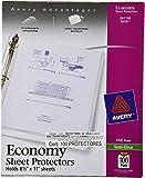 Avery Economy Semi-Clear Sheet Protectors,  Acid Free, Box of 100 (74101)