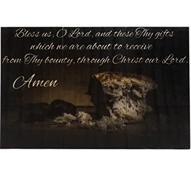 Deer Creek Products - Catholic Things Grace Before Meals, Bless us, O Lord Wooden Catholic Wall Decor 6.75 x 10.5 Inches