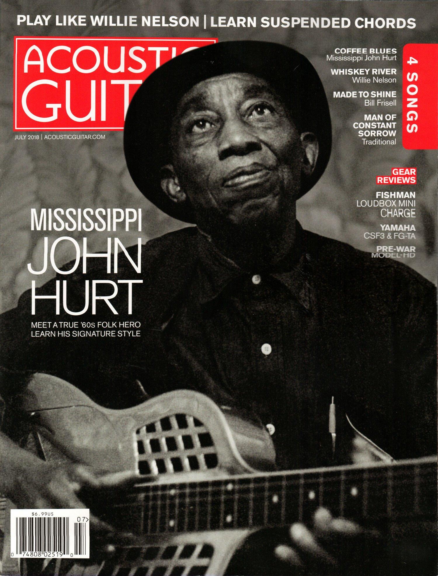 Acoustic Guitar Magazine July 2018 Mississippi John Hurt Various